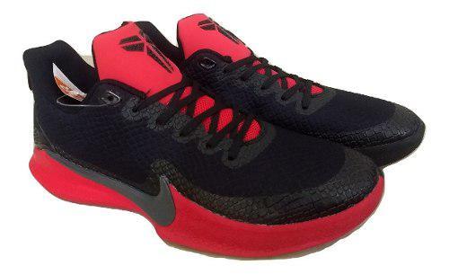 Kp3 zapatos caballeros nike kobe mamba focus negro rojo