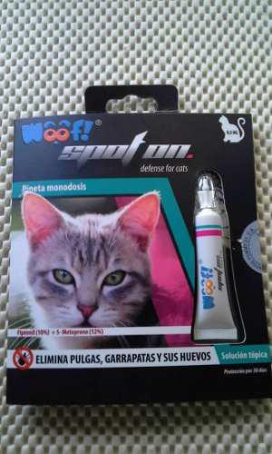 Pipeta antipulgas para gatos