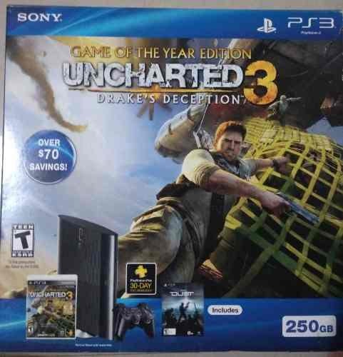 Play 3 super slim de 250 gb edicion uncharted 3