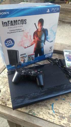 Playstation 3 Uslim 250gb Como Nuevo Ps3