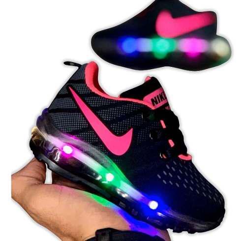 Zapatos con luces nike baby niños niñas moda promocion