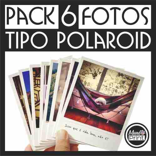 6 fotos tipo polaroid, estilo vintage