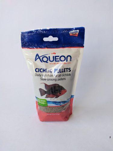 Alimento aqueon cichlid pellets 213gr para peces ciclidos
