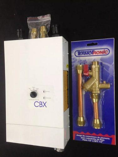 Calentador agua cbx + kit de instalación entrega inmediata