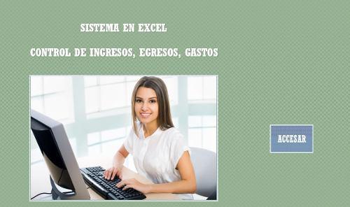 Control de ingresos, egresos, gastos + libro de excel