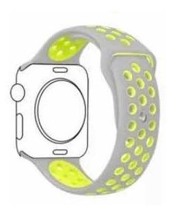 Correas de silicon nike apple watch 42/44mm 15 verdes 3x30