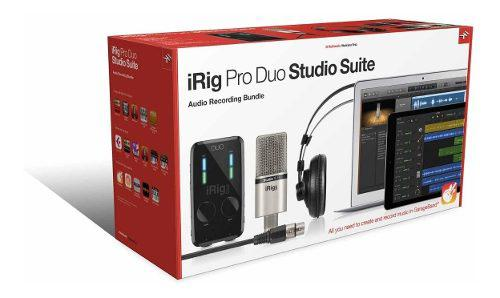 Irig pro duo studio suite (interfaz audifono mic software)