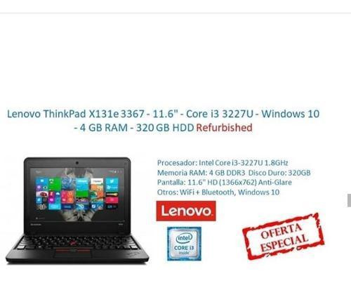 Lenovo thinkpad x131e 3367-11.6 core i3 windows 10 4gb ram