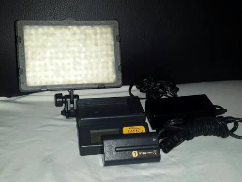 Luces led para video con batería sony original y cargador