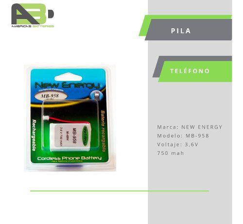 Pila / Batería Teléfono Inalámbrico Mb-958 3,6v / Kt446