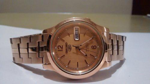 Reloj seiko 5 de pulso dorado original!
