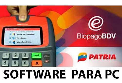 Software de biopago, monedero patria para pc