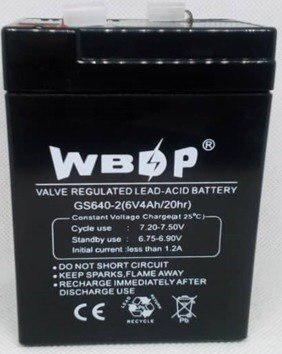 Bateria 6v 4ah para lampara de emergencia