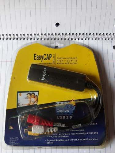 Capturador de video y audio rca a usb easycap ubs 2.0