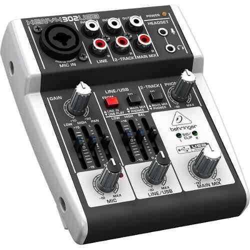 Interfaz de audio mezclador usb behringer xenyx 302