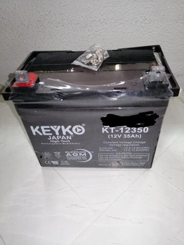 Pila bateria 12v 35amp recargable kt 12350 keyko