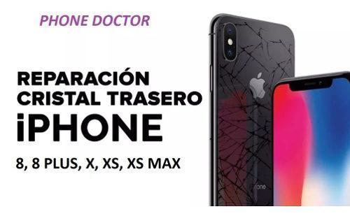 Tapa trasera iphone 8, 8p, x, xs, xr, max,11,pro+instalacion