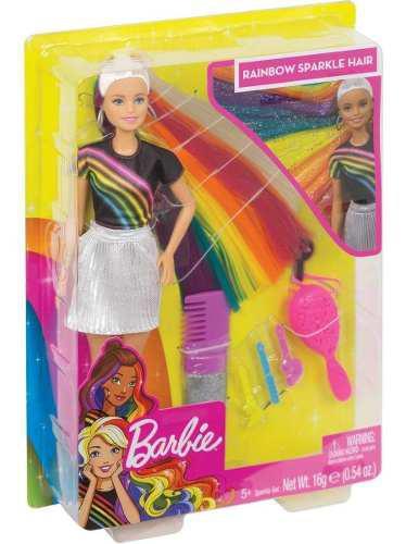 Barbie cabello de colores original rainbow sparkle hair