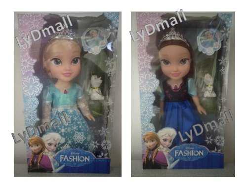 Muñeca frozen disney princesas ana y elsa 37 cm
