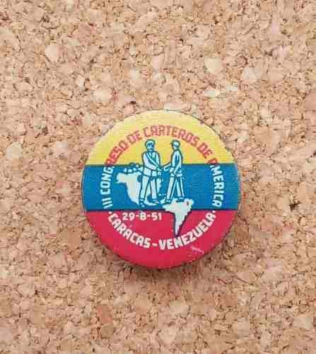 Pin iii congreso carteros de america caracas venezuela 50's