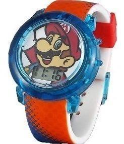 Reloj para niños hora digital super mario bros nintendo