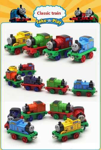 Tren thomas trencito tomas juguete imantado para niño set 4