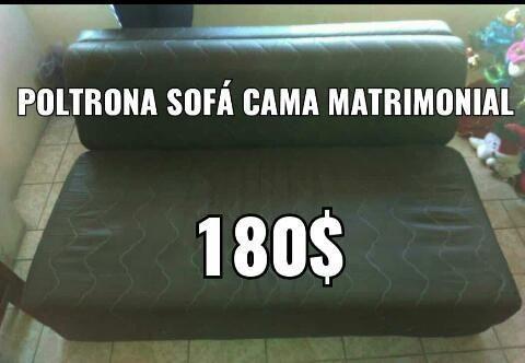 Sofá cama matrimonial adaptable 150usa