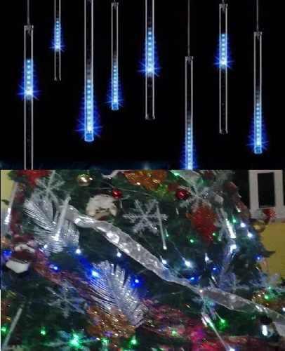 Luces navidad meteoro juego 6 tubos led nuevos