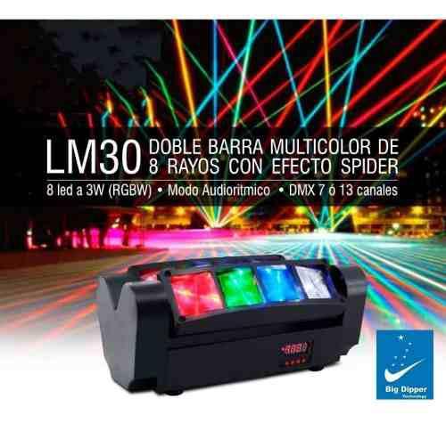 Luz led mini spider lm30 big dipper 8 ledsx3w