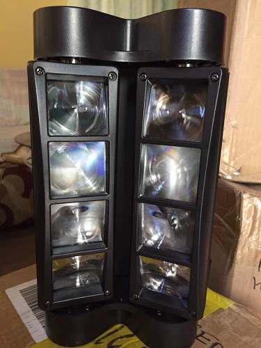 Luz par led spider 8 led doble barra