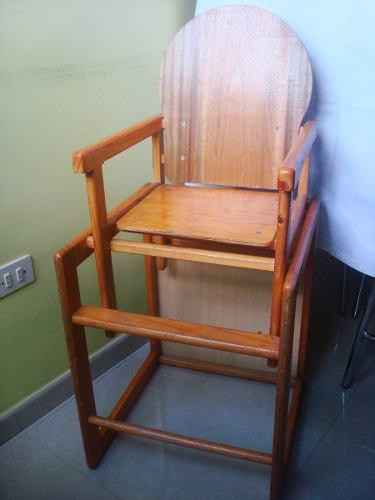 Mesa y silla de comer de madera para bebe ajustable converti