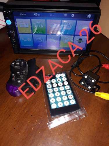 Reproductor pantalla doble 2din 7 pulgadas camara control