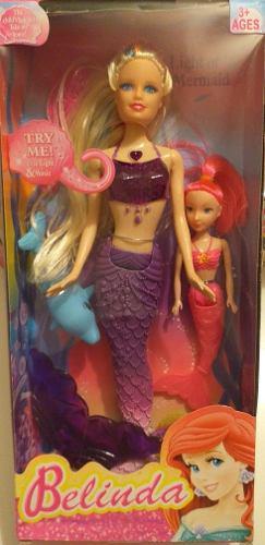 Muñecas barbie sirena con luz y sonido.