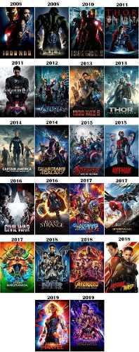 Universo marvel 22 films 1080p full hd+regalo