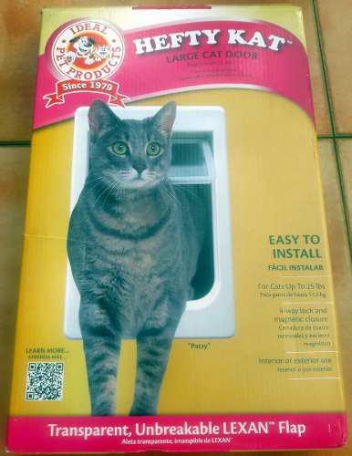 Puerta para gatos de hasta 11,3 kg con 4 modos de bloqueo