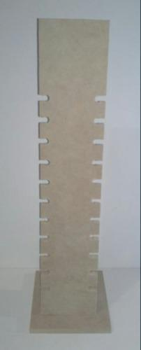 Exhibidor de pulseras alto 45cm en mdf crudo y mas