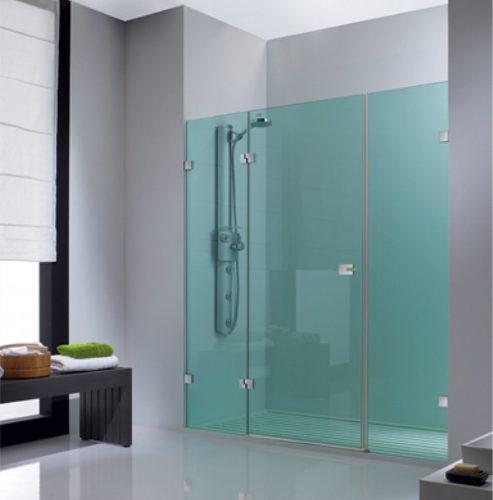 Puertas de baño en vidrio templado 1,30 a 1,40 x 1,80 de