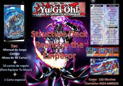 Yugioh structure deck realm ofthe seaempero original +regalo