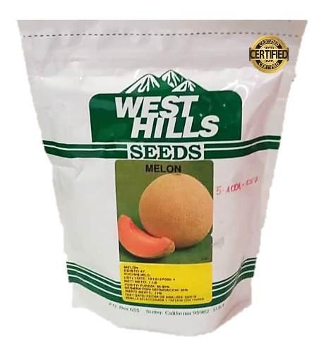 Semillas certificadas de melón sobre de 500 gramos