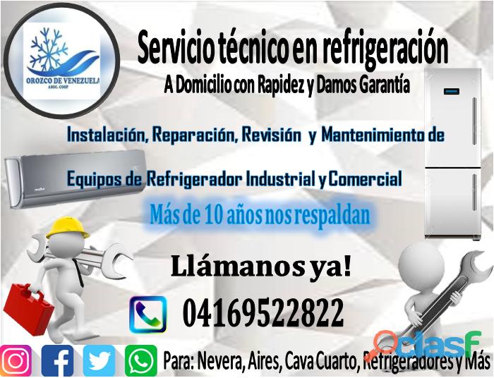 Orozco de venezuela venta de gas refrigerante al mayor y detal para:nevera, aires, cava cuarto, ref