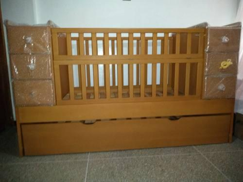 Cama cuna convertible en cama doble 6 gavetas. oferta! 360$