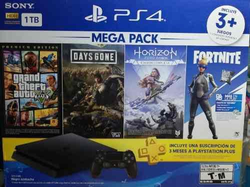 Mega pack ps4 playstation s4 incluye 3juegos y más