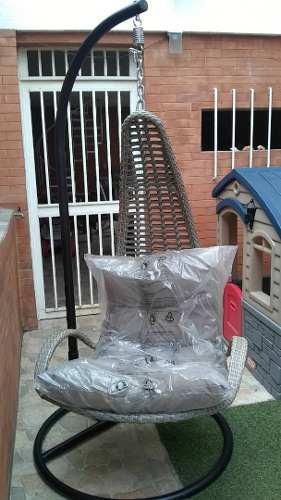 Silla colgante de rattan sintético exteriores jardín