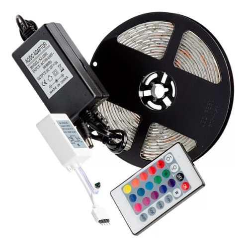 Cinta led 5050 rgb control multicolor tienda garantia oferta