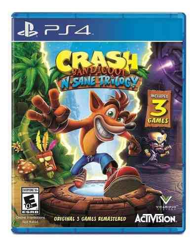 Juegos ps4 crash bandicoot original fisico nuevo y sellado!