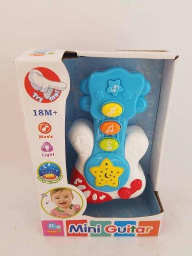 Mini guitarra musical para bebés con luces