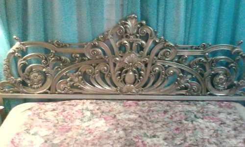 Espaldar para cama king, queen o matrimonial en bronce