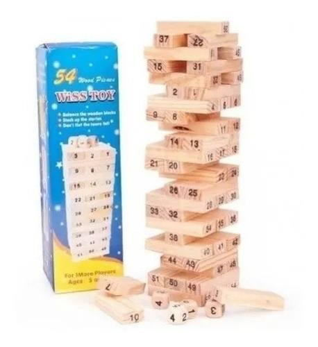 Jenga madera 48 piezas juego juguete niño