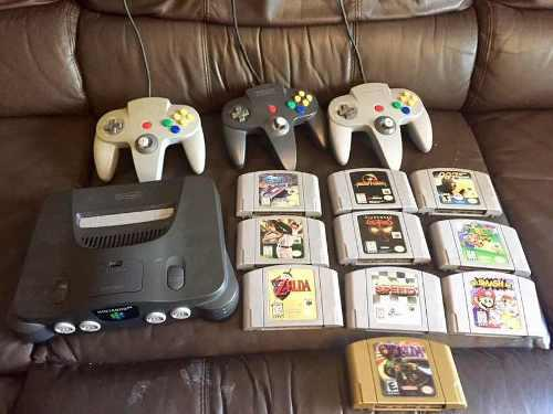 Consola y video juegos originales de nintedo 64