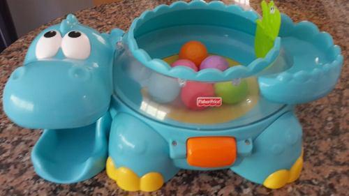 Hipopotamo fisher price lanza pelotas